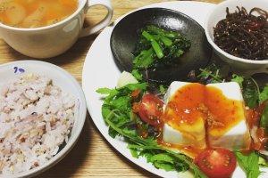 2017-07-05 ピリ辛豆腐サラダ