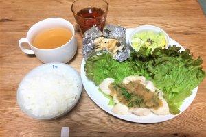 2017-08-26 水晶鶏ワンプレートご飯