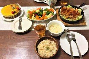 2017-09-12 ムースケーキと手抜きご飯