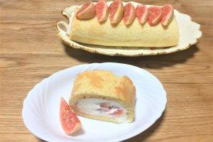 2017-10-07 いちじくロールケーキ