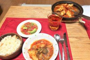 2017-10-18 タジン鍋 チキンのトマト煮