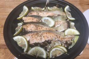 2017-10-20 電子レンジで簡単!タジン鍋で秋鮭のレモン蒸し