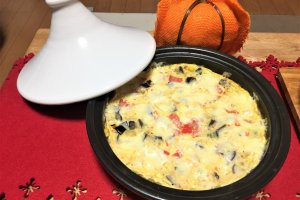 2017-10-25 タジン鍋でオープンオムレツ