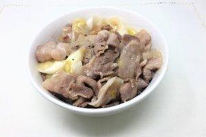 2018-03-13 豚バラネギ塩炒め丼