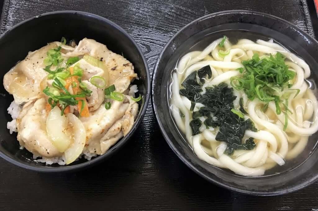 0102_2019-01-17 まき_うまいもん定食_かけ小_塩豚丼