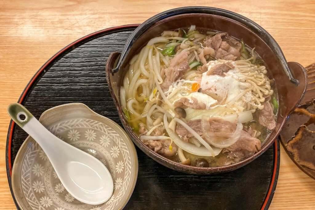 かなくま餅_鍋焼きうどん_2019-12-18