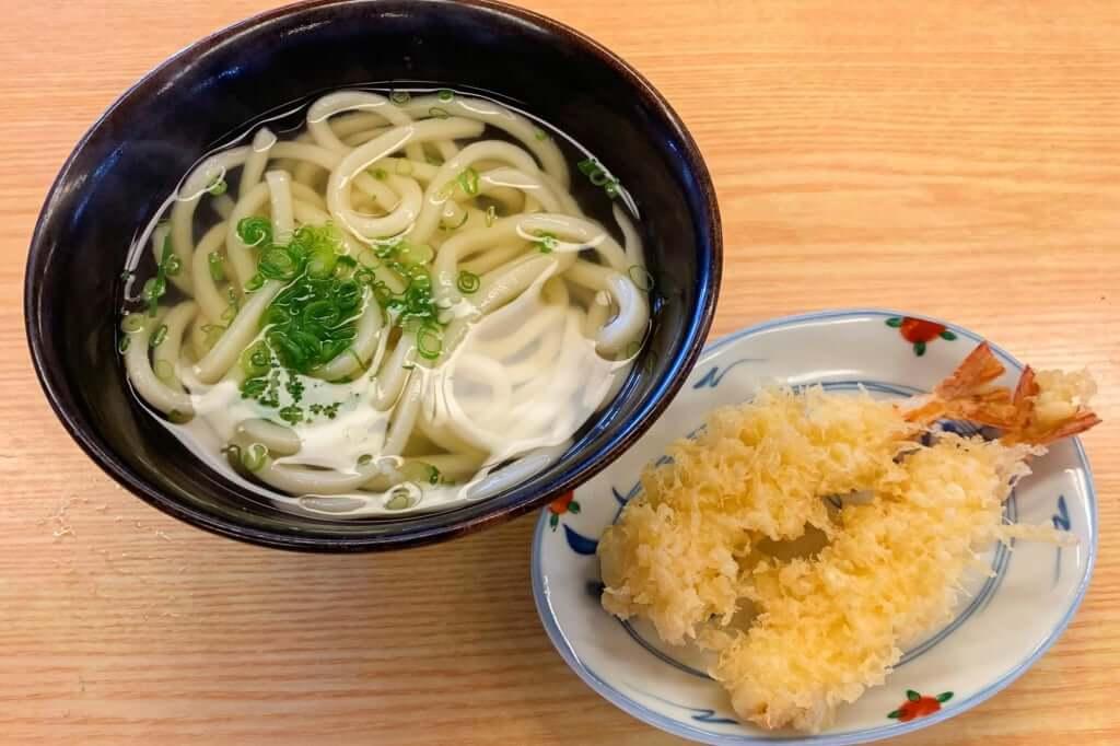 天ぷらうどん_小_かなくま餅