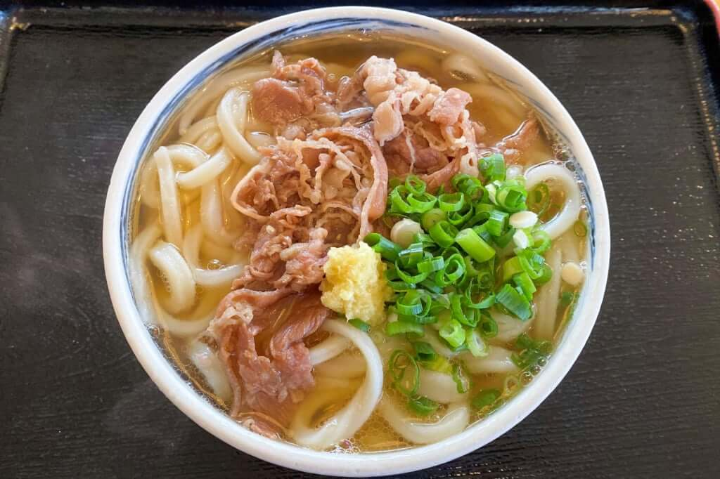 牛肉うどん、大_うまじ家_豊浜店_2019-10-15