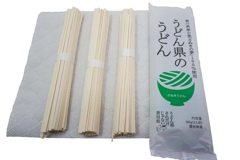 パッケージと麺_うどん県のうどん_讃岐物産_2019-04-28