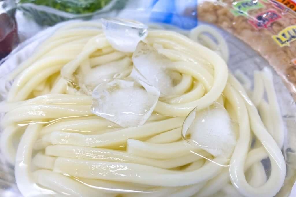 冷やしうどんの麺の状態_岡坂商店_2020-05-06