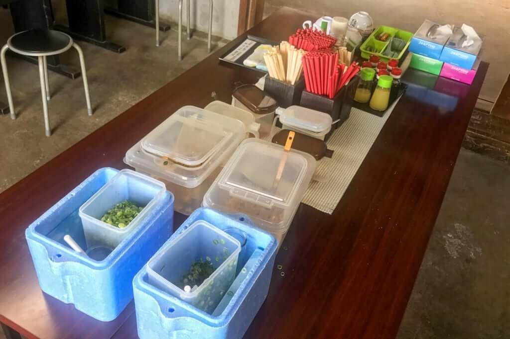 薬味コーナー_あやうた製麺_2019-08-21