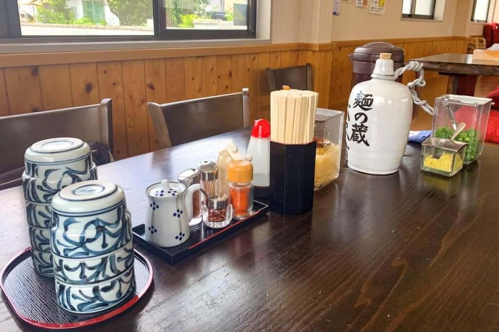 テーブルの上_麺の蔵_2020-07-17