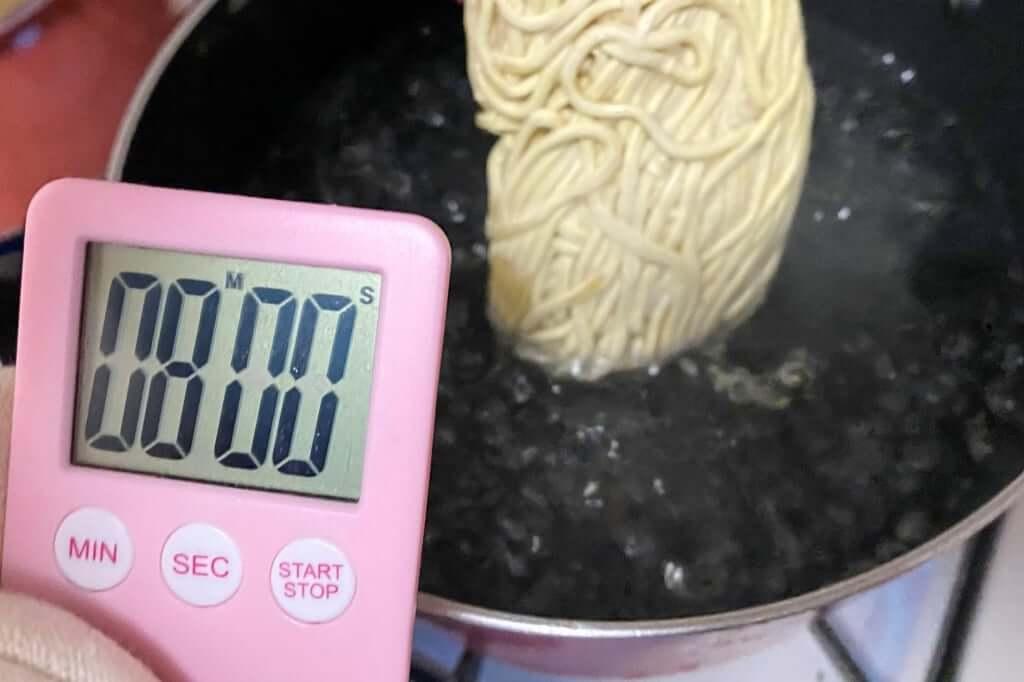 麺を茹でる_中華せいろ_銀座いし井_2020-10-28
