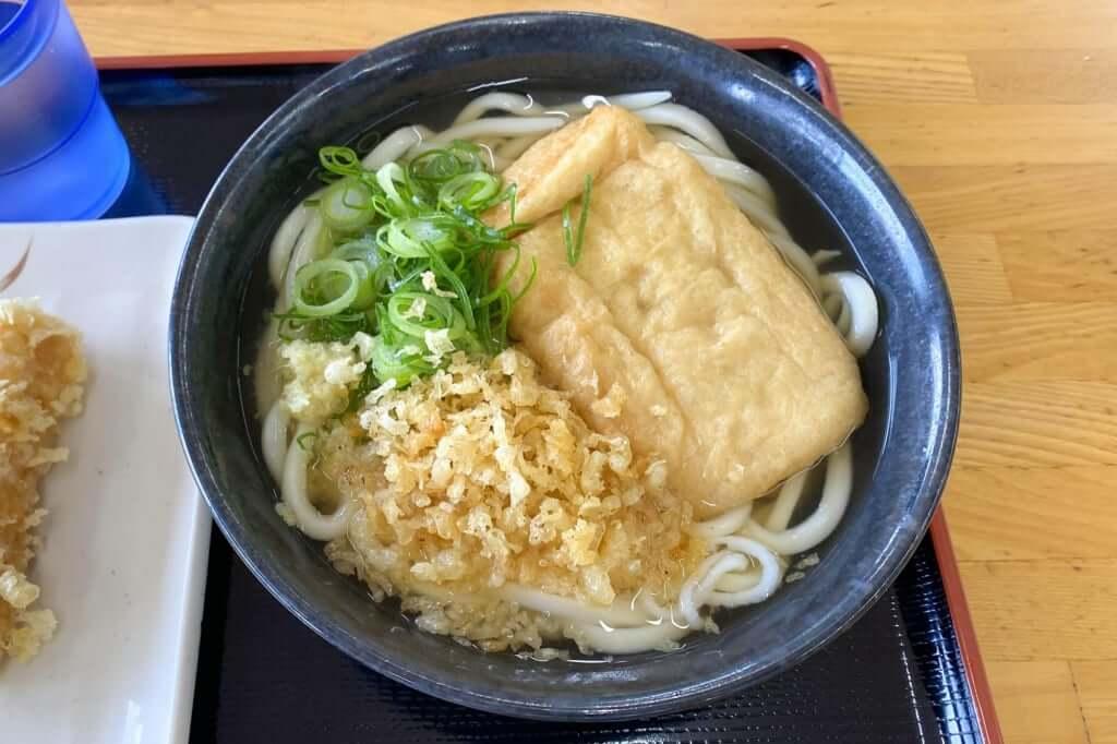 かけうどん+きつね_こだわり麺や_観音寺店_2020-02-06