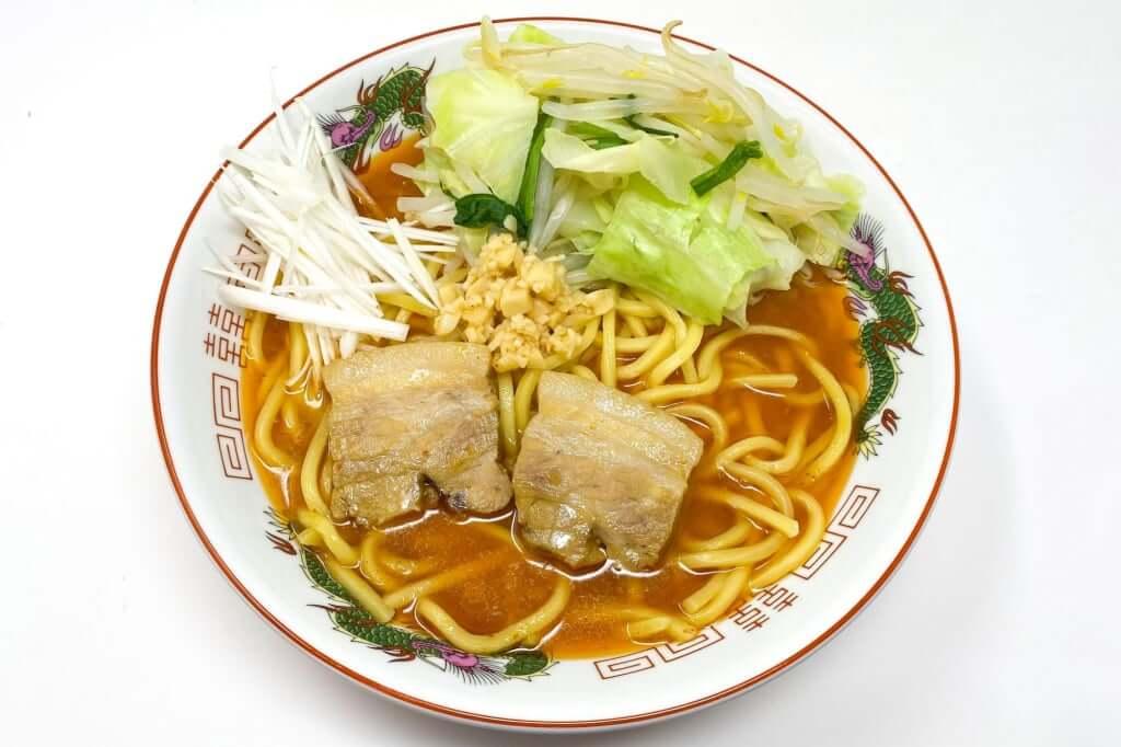 盛り付ける_味噌麺処_花道_辛味噌ラーメン_2020-12-27