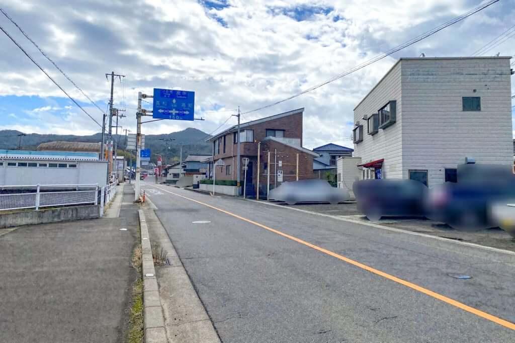飯山や国道32号線から_ゆい製麺所_2021-03-05